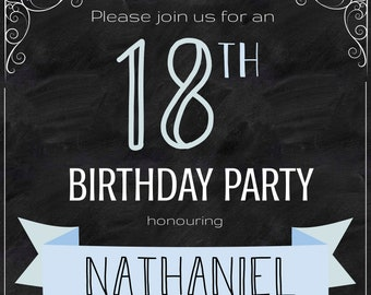 18th Birthday Invite
