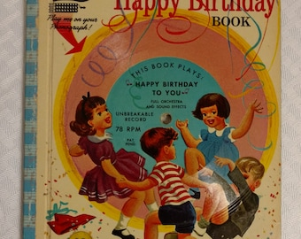 Magic Talking Books The Singing Happy Birthday Book 1955