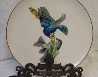 American Song Birds Indigo Bunting Plate Syracuse China