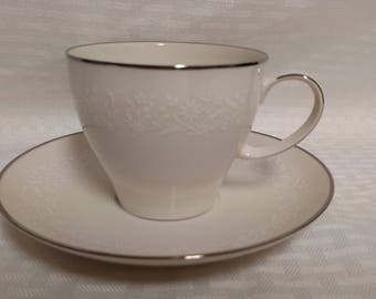 One (1) Vintage NORITAKE Lorelei 7541 Cup and Saucer