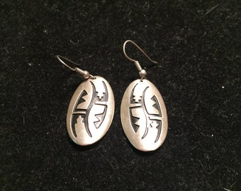 TI 925 sterling silver india design earrings