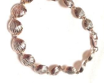 925 sterling silver seashell bracelet