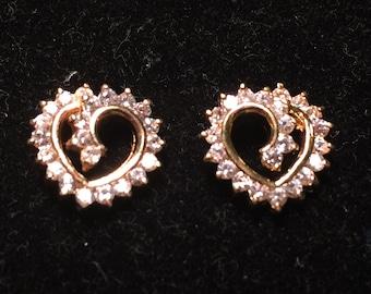 925 sterling silver heart earrings with cz