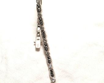 SU 925 sterling silver CZ bracelet