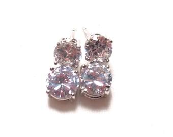 925 sterling silver CZ earrings