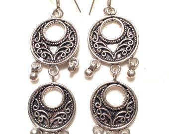 Beautiful 925 sterling silver vintage earrings