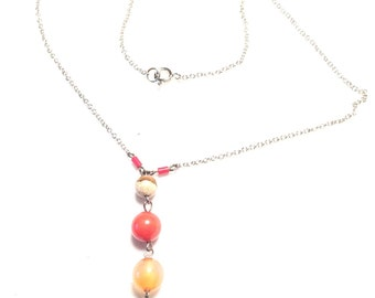 925 sterling silver necklace with muti stones and turquoise