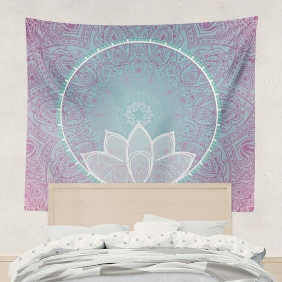 Lotus Mandala Tapestry Wall Hanging Art Meditation Yoga Buddha