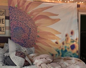 Sunflower Tapestry Boho Wall Tapestry Hippy Yoga Meditation Mandala Wall Hanging