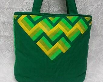 502f094aa009c Bawełna Torebka damska worek zielony odblaskowe torebka torba worek  Pathwork torba sklep spożywczy torba na zakupy Torebka Torebka Handmade  torba na ramię