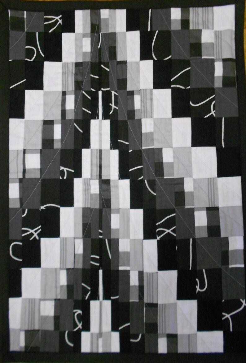Quilt art abstract cotton quilt textile art patchwork machine etsy