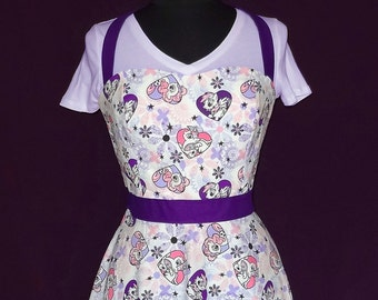 Cotton Sweetheart Halter Dress with 3/4 Circle Skirt Size 14 - Made with My Little Pony Printed Fabric