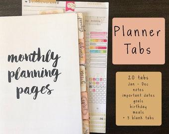 planner tabs etsy