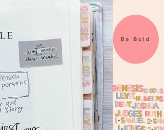 Be Bold, Books of the Bible Tabs, with adhesive