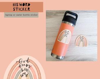 His Word Die Cut Sticker