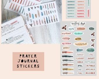 Prayer Journaling Sticker Sheet