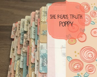 SRT, Books of the Bible Tabs, with adhesive, She Reads Truth