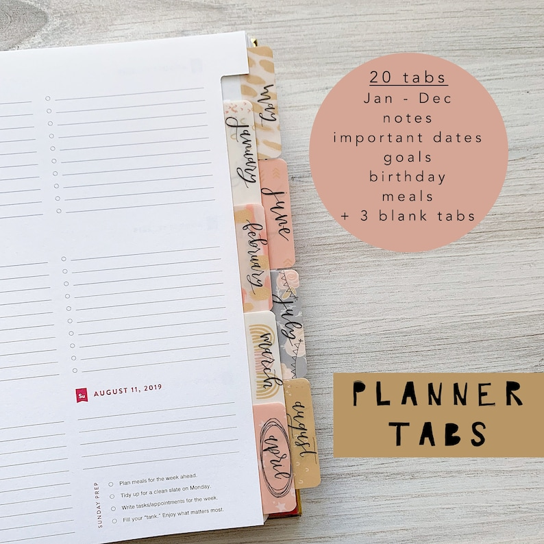 Monthly Calendar Planner Tabs image 0