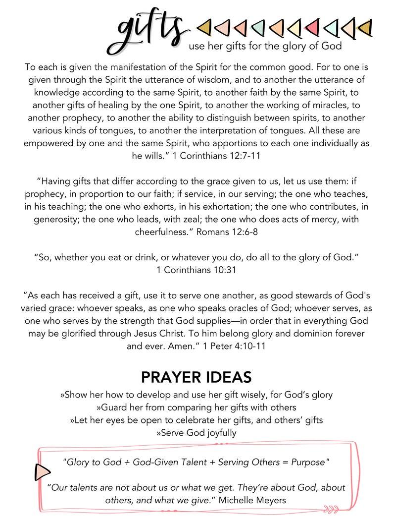 Kid's Prayer Prompts, PDF, Daughter, Digital download