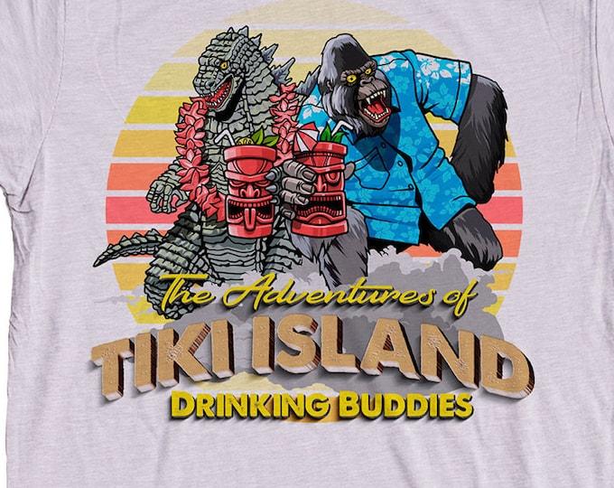 Tiki Shirt King Kong Godzilla
