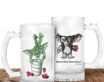 Gremlins Beer Mug - Gizmo Beer Stein - Spike and Gizmo - Cult Horror Gift