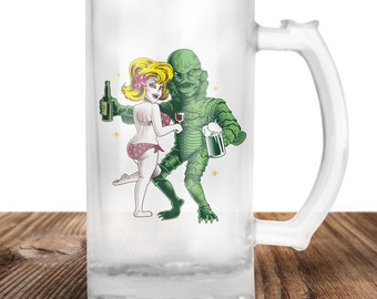 Creature of the Black Lagoon Beer Stein - Cult Horror Film - Creature - Craft Beer Mug -Beer Mug