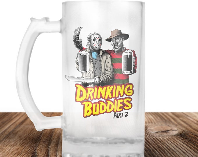 Freddy Krueger and Jason Voorhees Friday The 13th Freddy & Jason Drinking Buddies