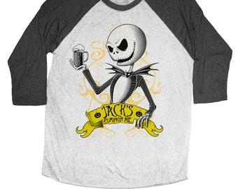Nightmare Before Christmas Shirt - Jack Skellington Shirt -  Pumpkin Ale Unisex Beer Shirt