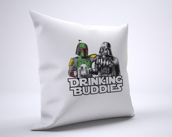 Funny Darth Vader Boba Fett Pillow Case Size 20in x 20in
