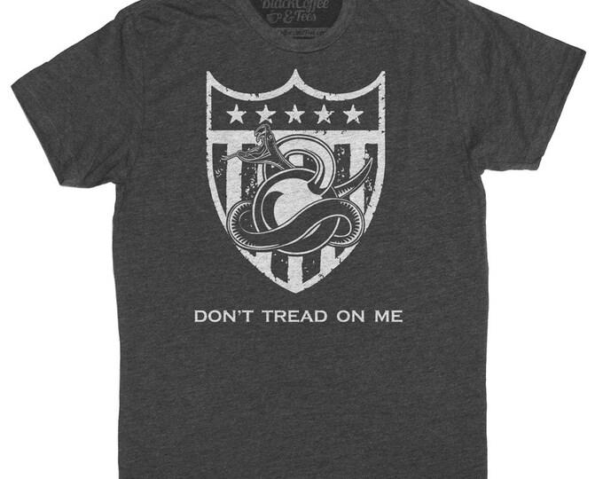 Gym Shirt - Mens Crossfit Shirt - American Gym Shirt - Dont Tred on Me Kettlebell T-Shirt - Army Shirt - Hand Screen Printed Mens Shirt