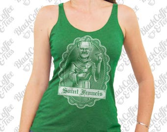 St Patricks Day Shirt - Shameless Shirt- Womens Frank Gallagher Shirt - Frank from Shameless Shirt Hand Screen Printed Green Tank Top