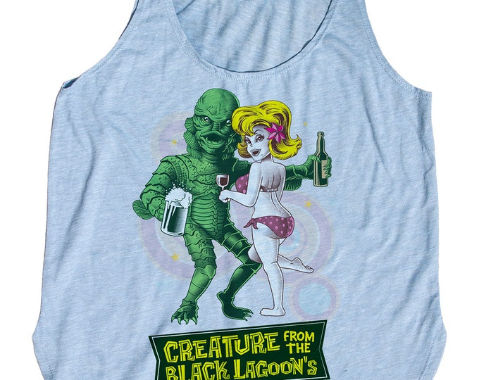 Creature from the Black Lagoon Shirt  Printed on a Womens Tank Top