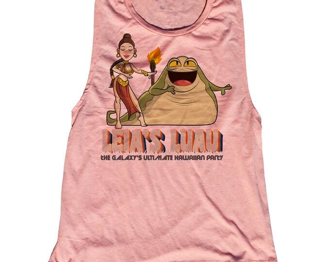 Star Wars Tiki Jabba The Hut Princess Leia Tank Top. Funny Jabba Shirt. Princess Leia Tank Top