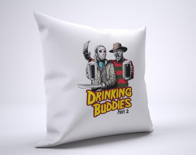 Funny Freddy And Jason Pillow Case Size 20in x 20in