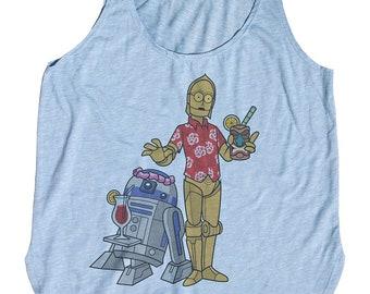 Star Wars Tank Top. R2D2 Tank Top. Funny C3PO Shirt. Vacation Cruise Shirt