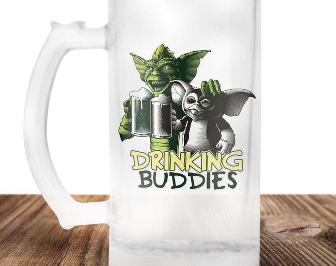 Gremlins Drinking Buddies Beer Stein - Cult Horror Gift -Gremlins Beer Mug