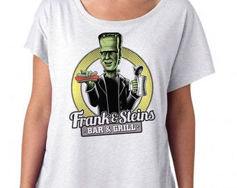 Frankenstein Shirt Womens  Frank and Steins Bar and Grill