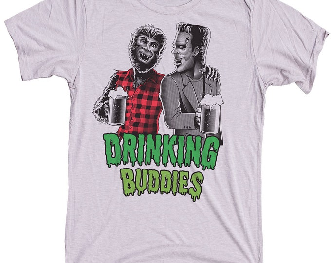 Frankenstein Wolfman Shirt - Mens Craft Beer Shirt