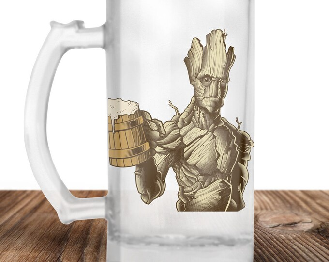 Groot from Guardians of the Galaxy Craft Beer Mug  Guardians of the Galaxy- Beer Lover