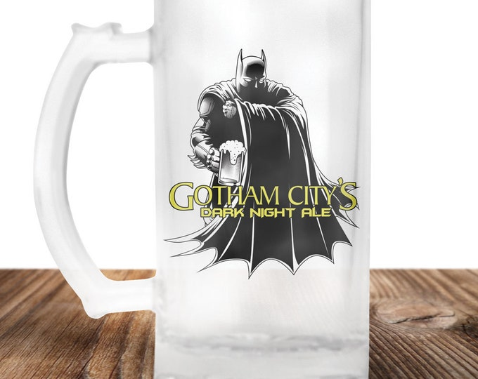 Batman Beer Stein - Batman Beer Mug - Gotham City