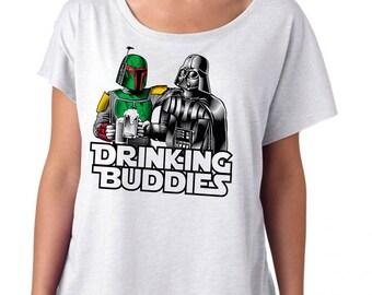 Womens Star Wars Shirt Darth Vader and Boba Fett Beer