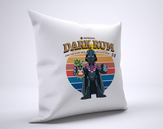 Funny Darth Vader Rum Pillow Case Size 20in x 20in
