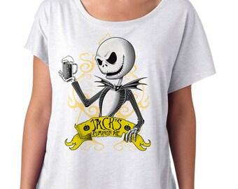 Nightmare Before Christmas Shirt - Jack Skellington Halloween Shirt Womens Dolman