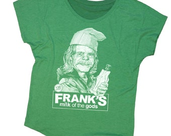 Shameless Shirt - Frank from Shameless Hand Screen Printed on a Womens Dolman - Green St. Patricks Day Shirt - Frank Gallagher Shirt