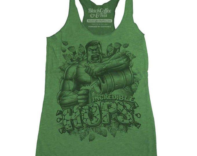 Saint Patrick's Day Hulk Shirt - Womens Hulk Tank Top -  The Incredible Hulk Craft Beer Womens Tank Top