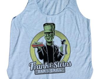Womens Frankenstein Tank Top - Frank N Steins Bar and Grill Tank Top - Womens Craft Beer Shirt