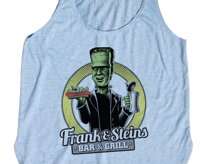 Womens Frankenstein Tank Top - Frank N Steins Bar and Grill Tank Top - Womens Craft Beer Shirt