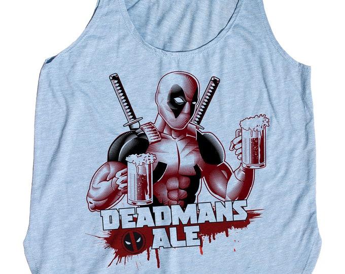 Womens Deadpool Beer Shirt - Womens Tank Top