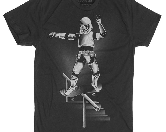Skateboard Shirt Funny Star Wars Parody