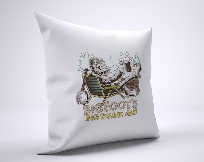 Bigfoot Ale Pillow Case Size 20in x 20in